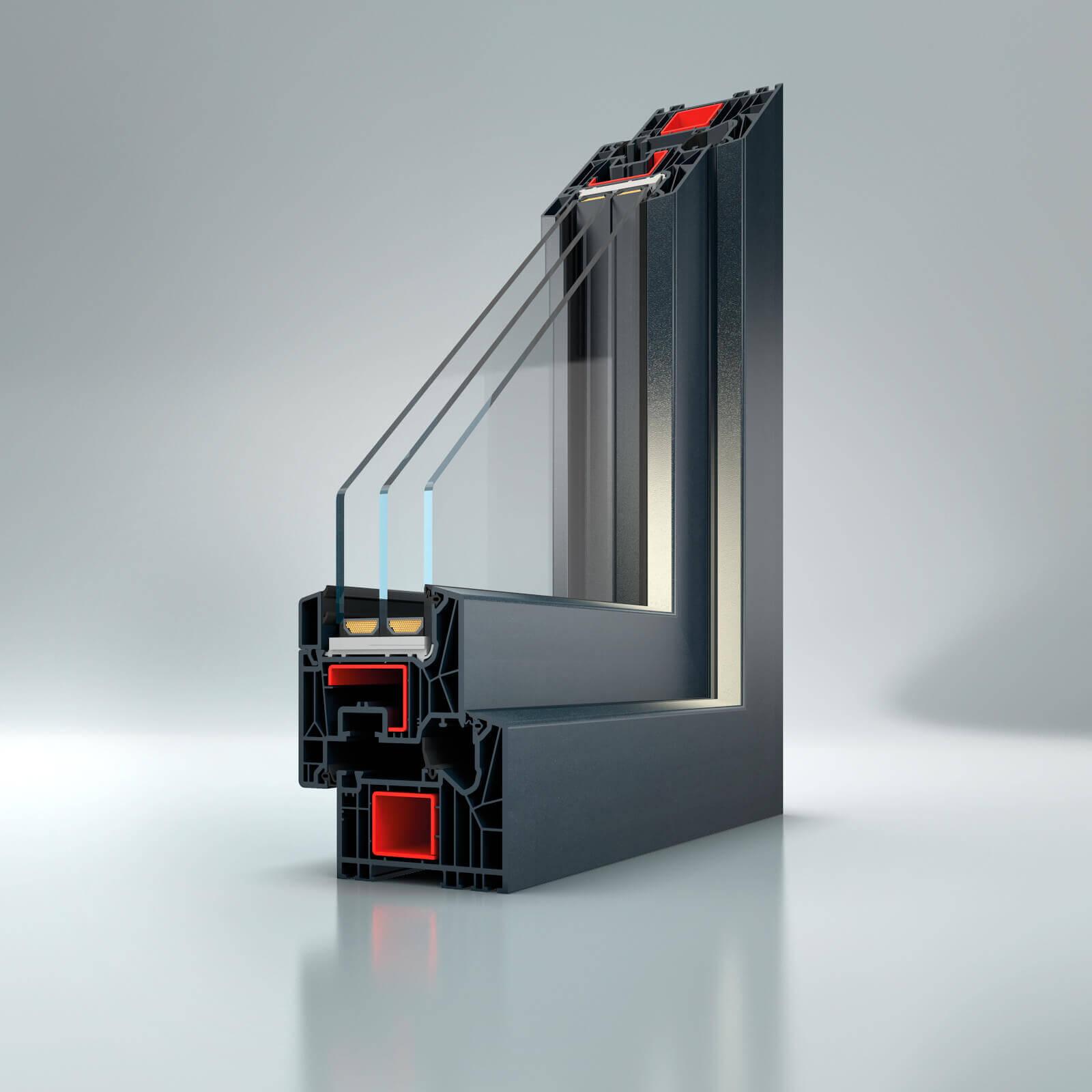 Plastové okná a dvere schueco 82MD