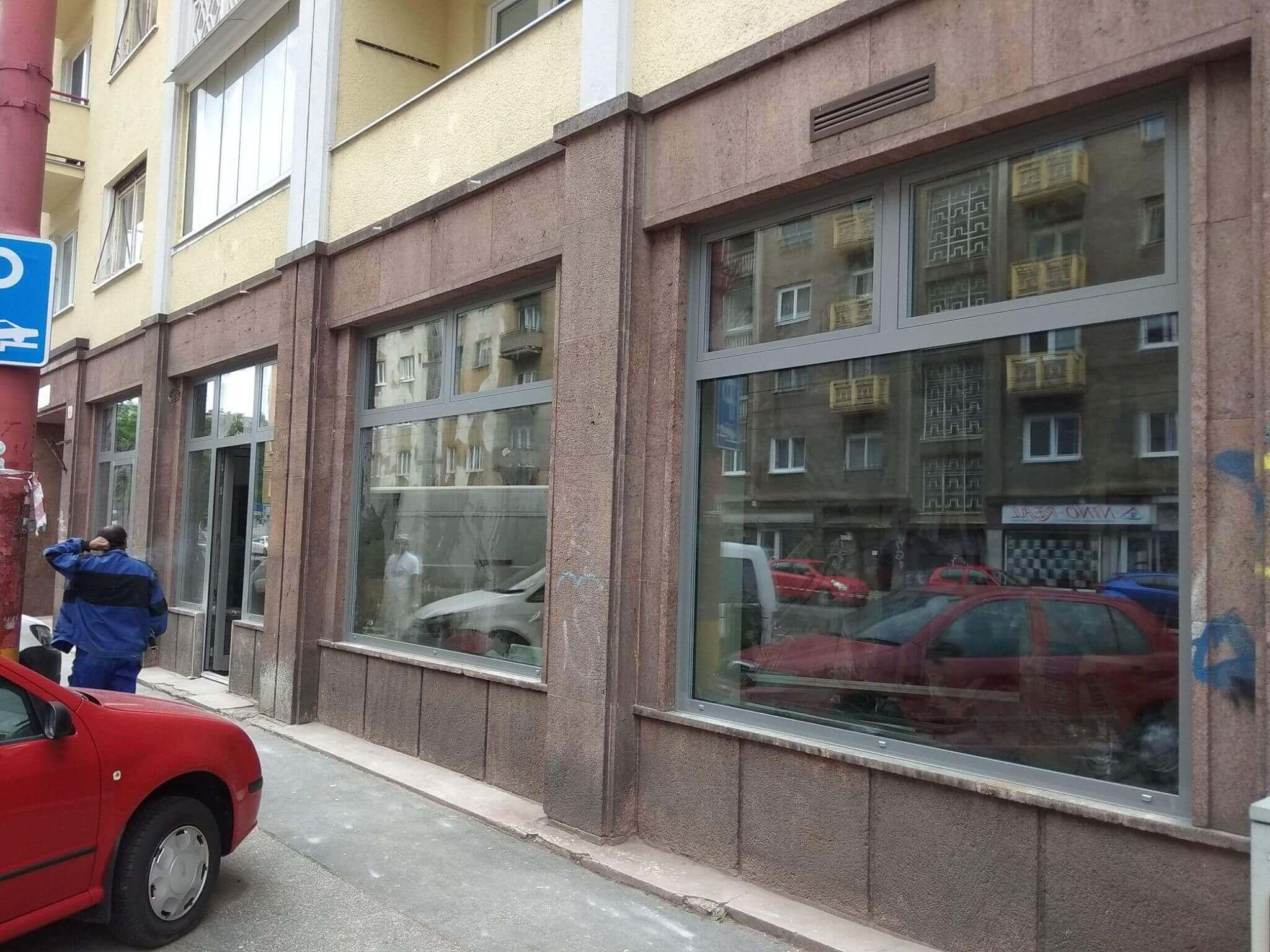 Oknosystem projekt Hliníkový výklad Bratislava
